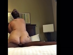 homemade interracial video of pawg riding bbc 9 minutes straight!!!