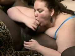 Interracial bbw hardcore sex with a big black cock