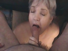 Kim Bates gagging on a cock. Result from up?