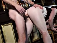 chesty redhead from england jaye rose is drilled at the pub