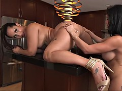 phat latina booties of diamond kitty and spicy j in lesbo scene