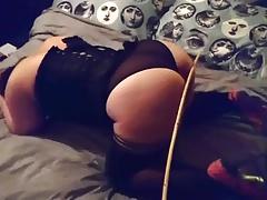 Slut wife being caned