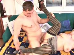 stockinged ginger bbw plowed with flannel