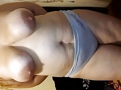 showing my big naturals tits