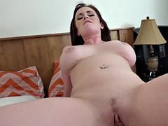 fat rod enters girl's ass