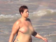 Big fat ass in the sky the beach