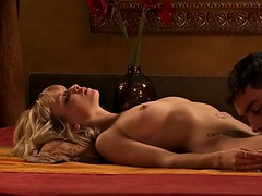doting interracial blonde around indian guy