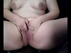 Horny Slattern Fat Chubby Teens showing pest with the addition of jugs on cam-3