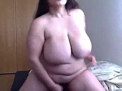 bbw dildo fucking on cam