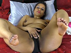 indian with chunky arse together with thighs pounding pussy with dildos