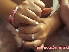 Sexiest slowmo handjob by Babygirl Cubanita