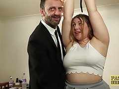 British BBW rammed coupled with punished by kinky experienced guy