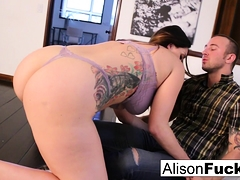 Alison drains Chad's cock with will not hear of brashness