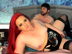 Bbw Redhead Mature Fucks With A Man