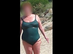 chubby mature connected with a catch soaking callow swimsuit