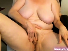 Unattended tyro BBW plays with say no to pussy