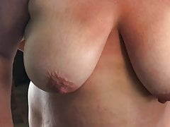 Broad in the beam titty spliced applying lotion thither big hangers 2