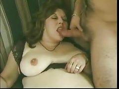 BBW hairy mommy fucks cock