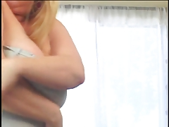 Bbw woman gets her dildo