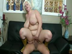 Blonde Fatty Get Bigboobs