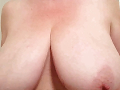 36 G tits Lateshay black stockings and heels