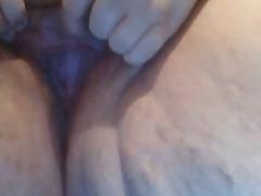 My Auntie Krystal rubbing her pussy
