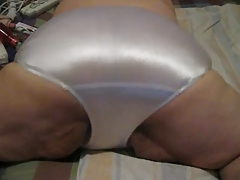 sexy white satin panties