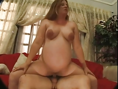 Pregnant Redhead Milf Chaz Needs A Hard Dose Of Cock