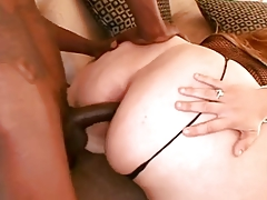 BBW fatty gets a long black dick in her tight ass