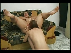 BBW Latina getting her Pussy-Ass licked by her Lesbian GF-P1