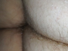 wifes hairy butt crack under the sheets very late night