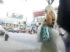 Gigante culo en las calles de miami