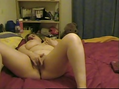 Horny Fat Chubby Teen GF having phone sex with her BF