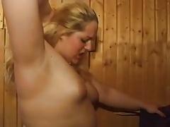 Chubby in the sauna