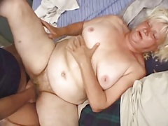 Fat Blonde Granny Vicky Salas Fucks Younger Man