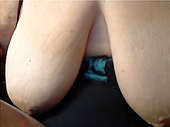 Nice BBW shows her Saggy huge tits in Cam