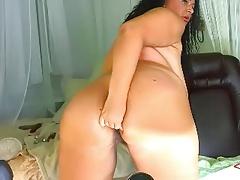 pretty big tits curvy webcam show