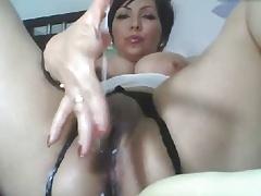 Big breast Milf fingers her wet nasty pussy