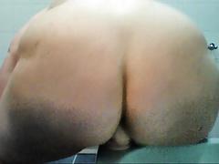 fatty rides a dildo