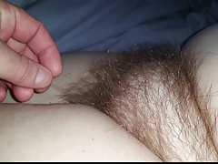 i love the feel of my wifes soft long hairy pussy