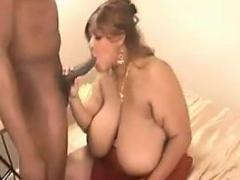 Ebony BBW With Big Breasts Riding A BBC