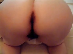 Insatiable BBW wife takes it up her hairy cunt doggystyle