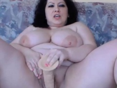 Hot huge titted queen bbw DIVINE masturbates