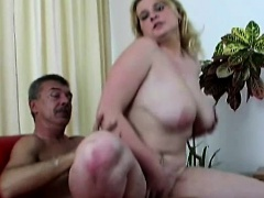 Busty czech fucking old guy for cash