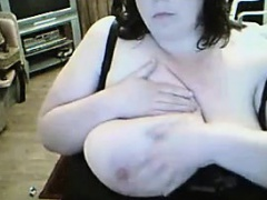 Naughty BBW Flashes Her Huge Breasts