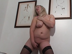 busty mature Lana with sex toys