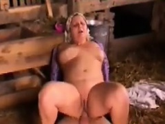 Fat Grandma With Some Hard Cock In Her Ass