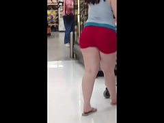 Chunky PAWG Red Heart Shorts