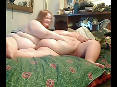 Fat BBW Teen GF playing with her enourmous Sister in law-1