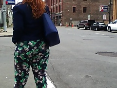 Water Wobble Pawg Redhead Candid Booty